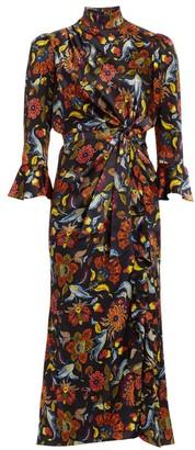 Cinq à Sept Juliana Paisley-Print Midi Dress