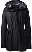 Lands' End Women's Waterproof Rain Parka-Black Geo Link