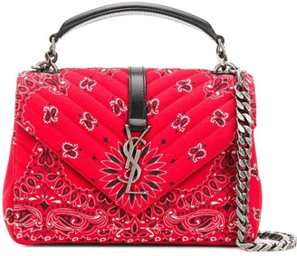 Saint Laurent Bandana Fabric Shoulder Bag