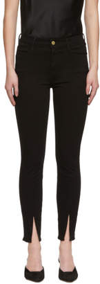 Frame Black Le High Skinny Vented Jeans