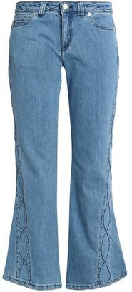 See by Chloe Embroidered Mid-rise Kick-flare Jeans