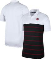 Nike Men's White/Black Arkansas Razorbacks Striped Polo