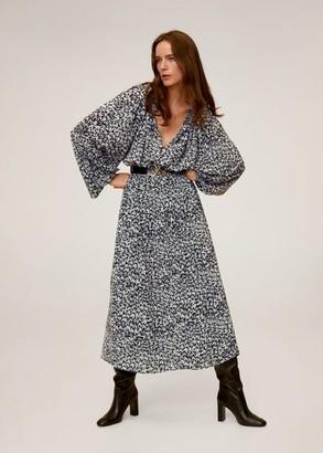 MANGO Maxi sleeves printed dress