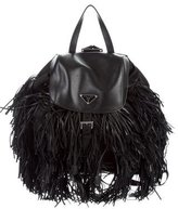 Prada Tessuto & Soft Calf Fringe Backpack