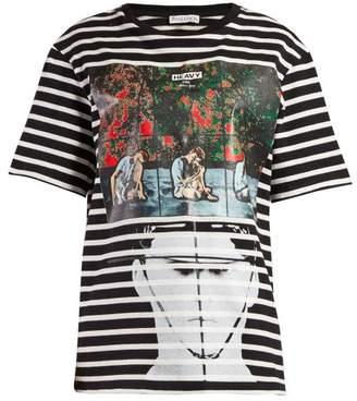 J.W.Anderson X Gilbert & George Print Striped T Shirt - Womens - Black Multi