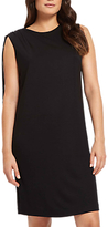 Jaeger Jersey Gathered Shoulder Dress, Black