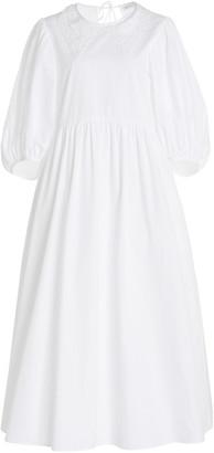 Cecilie Bahnsen Mette Lace-Trimmed Cotton Midi Dress