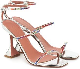 Amina Muaddi Gilda crystal-embellished leather sandals