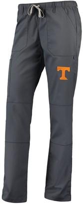 Women's Charcoal Tennessee Volunteers Straight Leg Scrub Cargo Scrub Pants