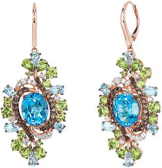 LeVian Le Vian 14K Rose Gold 15.75 Ct. Tw. Gemstone Earrings