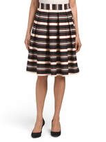 Red Black Striped Skirt - ShopStyle