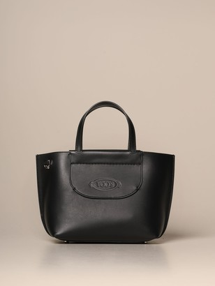 Tod's Tods Tote Bags Tods Mini Shopping Bag In Leather With Shoulder Strap