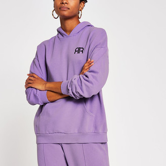 River Island Lilac pocket front oversized hoodie
