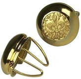 Forzieri Gold Plated Giglio Button Covers