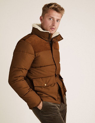 Marks and Spencer Borg Lined Puffer Jacket with Stormwear