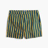 "J.Crew 6.5"" Tab Stretch Swim Short In Yellow Stripe"
