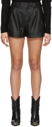 Etoile Isabel Marant Black Leather Abot Shorts