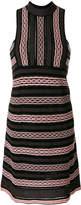 M Missoni striped halterneck dress