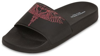 Marcelo Burlon County of Milan Wings Printed Rubber Slide Sandals