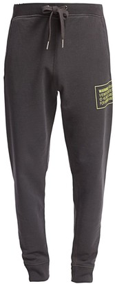 Helmut Lang Warning Label Graphic Sweatpants