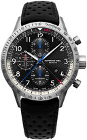 Raymond Weil Men's Swiss Automatic-Chronograph Freelancer Piper Black Leather Strap Watch 45mm 7754-TIC-05209