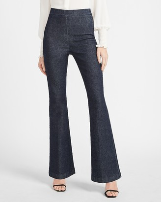 Express Super High Waisted Perfectly Polished Slim Flare Jeans