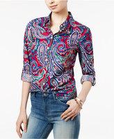 Tommy Hilfiger Pia Paisley Roll-Tab Shirt
