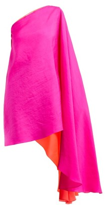 Roksanda Renn Asymmetric Silk-organza Top - Pink Multi