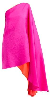 Roksanda Renn Asymmetric Silk-organza Top - Womens - Pink Multi