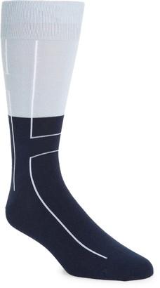 Nordstrom Linear Block CoolMax(R) Socks
