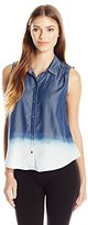 Calvin Klein Jeans Women's Ombre Sleevless Buttondown Top