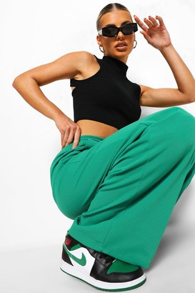 boohoo Piping Detail Wide Leg Woven Joggers