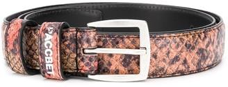 Paccbet Snakeskin-Print Buckle Belt