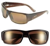 Maui Jim Men's 'World Cup - Polarizedplus2' 64Mm Sunglasses - Brown/ Marlin