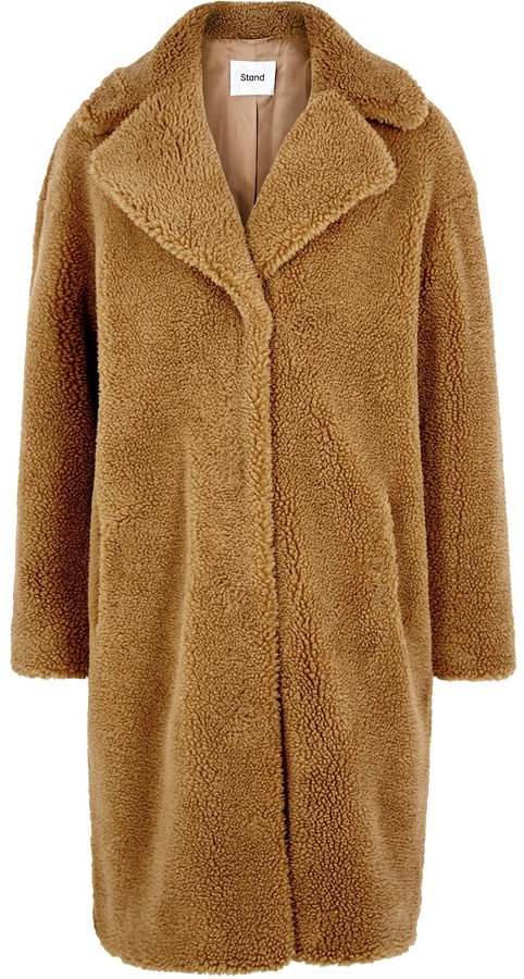 Thumbnail for your product : Stand Studio Camille Brown Faux Shearling Coat