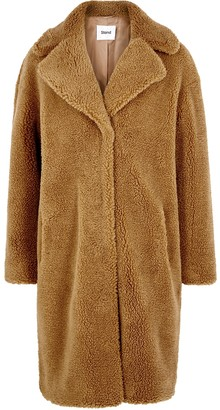 Stand Studio Camille Brown Faux Shearling Coat