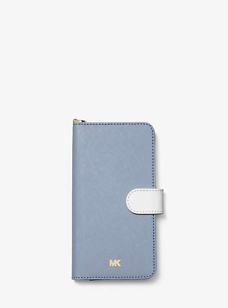 Color Block Saffiano Leather Folio Case For Iphone 7/8 Plus by Michael Michael Kors