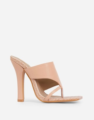 Ego x Molly-Mae Captivating heeled mules in beige