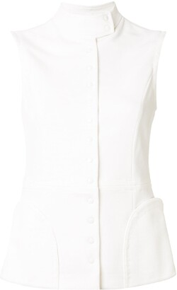 Giorgio Armani Sleeveless Paneled Jacket