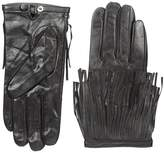 La Fiorentina Women's Leather Glove with Fringed Wrist Cuffs