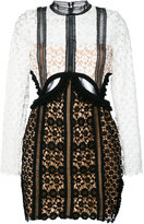 Self-Portrait cut-out lace dress - women - Polyester - 8