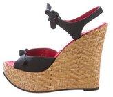 Dolce & Gabbana Wicker Platform Sandals