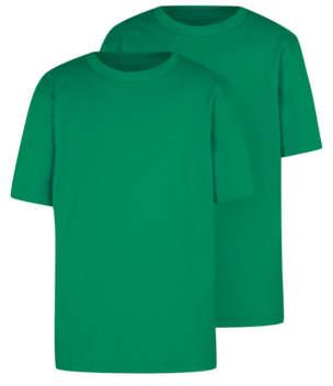George Green Crew Neck School T-Shirt 2 Pack