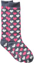 Pink Cookie Girls 4-16 Print Knee-High Sweater Socks