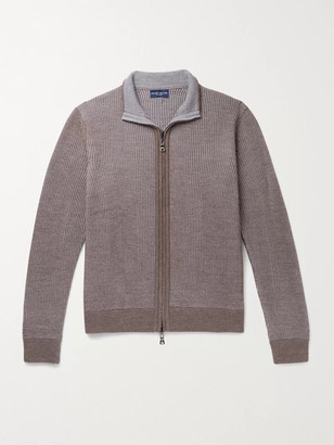 Peter Millar Nordic Reversible Ribbed Merino Wool Zip-Up Sweater