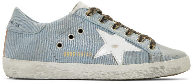 Golden Goose Blue Denim Superstar Sneakers