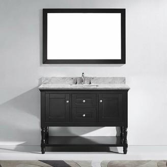"Gracie Oaks Cicely 49"" Single Bathroom Vanity Set with Mirror Gracie Oaks"