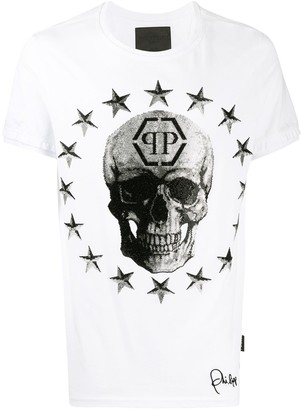 Philipp Plein star and skull print T-shirt