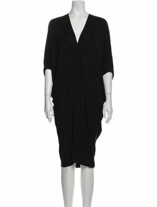 Lanvin V-Neck Midi Length Dress Black