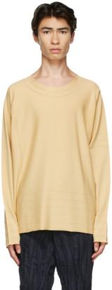 Issey Miyake Yellow A-POC 24G Sweater